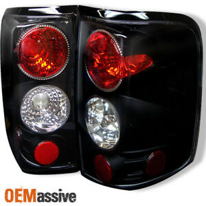 Fits 04 08 Ford F150 Pickup Truck Styleside Body Black Tail Brake Lights Lamps