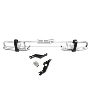 Fit 06 12 Toyota Rav 4 Stainless Steel Double Bar Rear Bumper Protector Guard