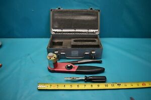 Used Pyle national Crimping Tool Tp 201351 ag With Case