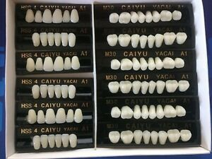 3 Complete Sets Acrylic Denture Teeth A1 Size Medium In One Box