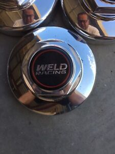 Weld Racing Polished Aluminum Cover Center Cap 6 1 4 Diameter Push In Style