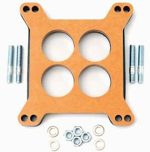 Edelbrock 8723 Edelbrock Holley Carburetor 1 2 Inch 4 Hole Wood Laminate Spacer