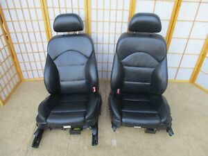00 03 Bmw M5 E39 Oem Black Leather Interior Power Front Seats Sport Bucket Set