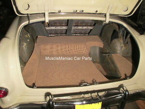 1953 1954 Pontiac Chieftain Trunk Mat Tan brown Tweed Mat On Tar Felt 53 54