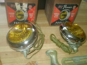 1946 1947 1948 1949 1950 Plymouth Dodge Pioneer Chrome Fog Lights Nos Chevy Ford