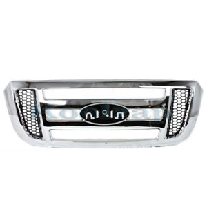 06 11 Ranger Pickup Truck Front Grill Grille Assembly Chrome Shell 6l5z8200aaa
