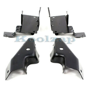 03 06 Chevy Silverado Pickup Truck Front Bumper Mounting Brace Bracket Set Of 4
