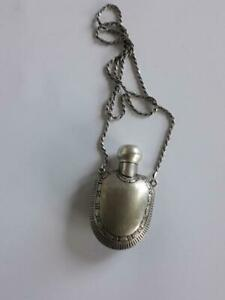 Vintage Old Pendant Miniature Perfume Bottle Metal