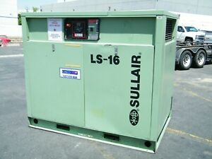 Sullair Ls 16 75 Hp Rotary Screw Air Compressor Ingersoll Rand Kaeser Quincy
