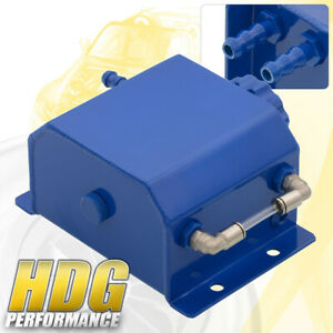 Performance 1 Liter Blue Radiator Coolant Overflow Bottle Recovery Water Tank