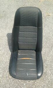 Jeep Yj Cj7 Front Seat Black With Repeated Jeep Logo High Back Factory