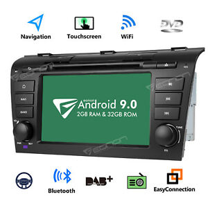 7 Android 9 0 Car Radio Dvd Gps Navigation Touch Screen For Mazda 3 2004 2009 Bk