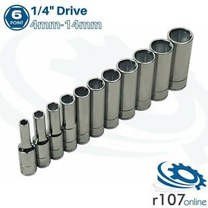 Blue Point 1 4 Deep Socket Set 4mm 14mm Incl Vat As Sold By Snap On