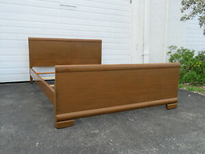 Mid Century Modern Painted Vintage Full Size Bed 9561