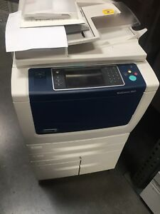 Xerox Wc 5855workcenter copier printer color Scan clean b56 Finisher
