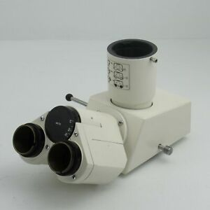 Carl Zeiss Axioskop Trinocular Microscope Head With Photo Tube 45 29 10 452910
