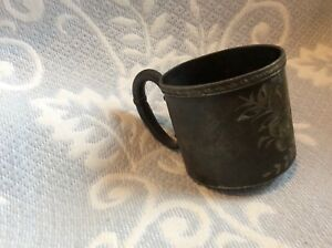 Antique Baby Cup Silver Plate Albany Silver Plate Co 5402 Mary