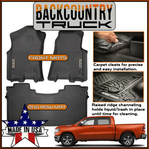 Backcountrytruck Floor Mats Liners Fit 2019 New Body Dodge Ram 1500 Crew Cab