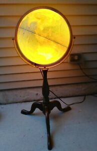 Vintage Replogle World Premiere Series Lighted World Globe With Wood Floor Stand