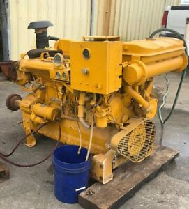 Caterpillar Cat 3306 Marine Diesel Engine W Pto Low Hours