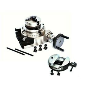 Rotary Table 100 Mm With 50 Mm Mini Lathe Scroll Chuck And Rotary Vice 4 Inch To