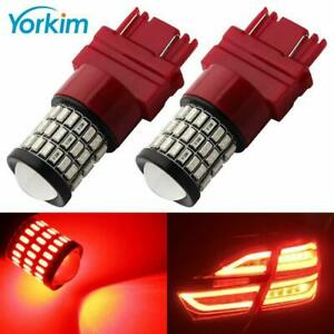 Yorkim Extremely Bright 3157 Led Bulb Red 3056 3156 3057 3157 Led Red Pack Of 2