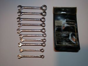 Craftsman 10 Piece Combination Ignition Wrench Set No 943441