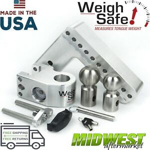 Weigh Safe 8 Drop Hitch W 2 2 5 16 Stainless Steel Balls And 3 Shaft Size