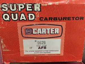 Acf Carter Super Quad Carburetor 9626 625 Cfm Afb Electric Choke 4 Barrel