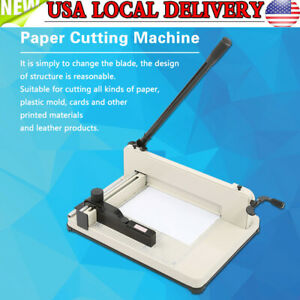 Heavy Duty A4 Paper Guillotine Cutter Trimmer Hss Blade Cutting Machine 21 15 In