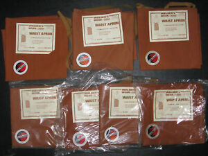 Welding Waist Apron Flame Resistant Retardant 24 X 24 Cotton Lot Of 7