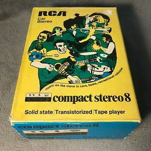 Vintage Nos Rca 12r490 Car Compact Stereo 8 Track Player New In Box Free Ship