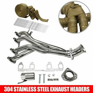 Race Exhaust Header Manifold Stainless Steel For Vw Golf Gti Jetta 1 8l 8v wrap
