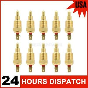 10x 185 Degree Engine Thermostat Temp Sensor Switch 3 8 Npt Radiator Cooling