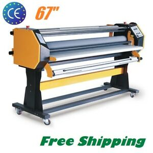 Us 67 110v Stand Frame Full auto Wide Format Hot cold Laminating Machine 1630mm