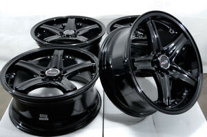 17x7 5 Black Wheels Fits Accord Civic Lexus Is200t Is250 Tiburon Is300 G35 Rims
