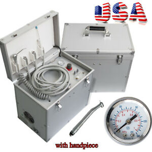 Portable Dental Delivery Unit 1400r min Air Compressor Suction Three Way Syringe