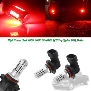 High Power Brilliant Red 9005 9006 Led Bulbs Car Daytime Running Drl Fog Lights