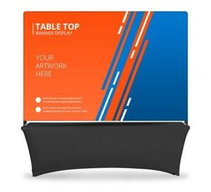 Table Top Banner Back Wall Display System Table Header Backdrop Banner Stand
