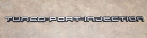 82 92 Z28 Camaro Iroc Z Tuned Port Injection Tpi Rear Emblem Badge Silver