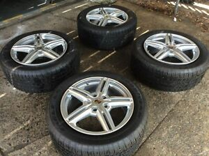 2011 2017 Porsche Cayenne S 958 Oem 4 Wheels Tires 19x8 5 Like New