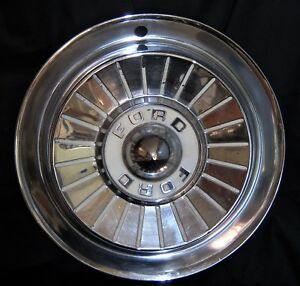 1957 Ford Hubcaps Wheel Covers Set Of 3