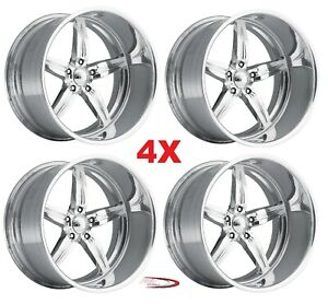 26 Pro Wheels Rims Spitfire 5 Intro Foose Mags Forged Billet Line Aluminum