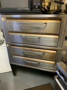 Blodgett 911 Double Gas Deck Pizza Oven With Stones Excellent