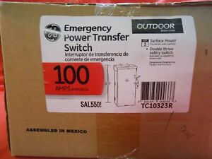Ge Tc10323r Outdoor Double throw Emergency Power Transfer Switch 100a New