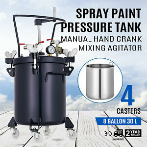 Spray Paint Pressure Pot Agitator Lacquer Manual Mix 30l Adhesives Roll Caster