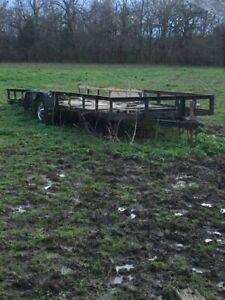 20x6 Flatbed Wood Trailer
