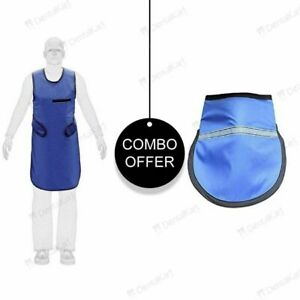 Dental X Ray Protective Apron Lead Vest Cover Shield Rubber Thyroid Collar