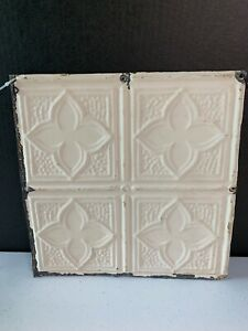 12 X 12 Antique Metal Tin Ceiling Tile Vintage Shabby Chic Salvaged Wall Art