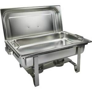 Get a grip Chafer With Food Pan Handles 8qt Stainless Steel